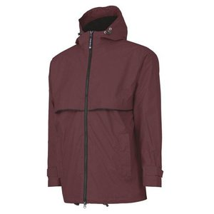 Maroon and Black New Englander Rain Jacket