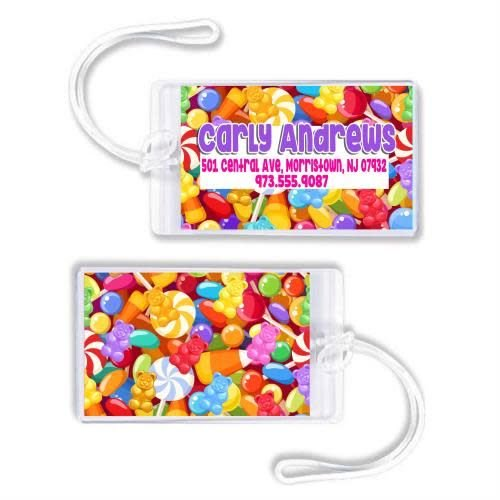 Candy Luggage Tag