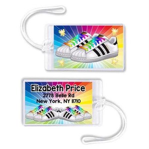 Rainbow Sneakers Luggage Tag