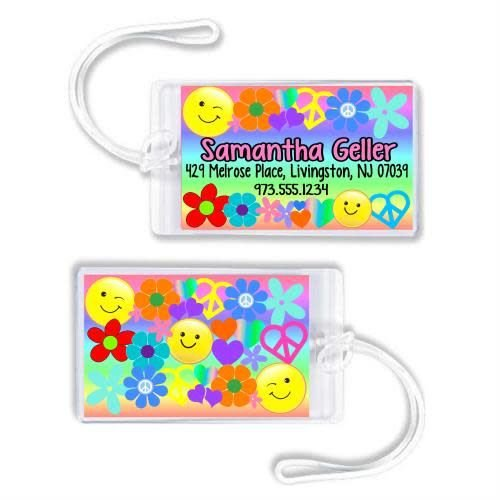 Peace and Love Luggage Tag