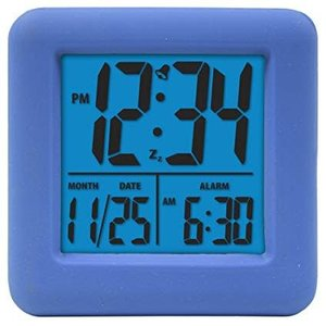 Blue Square Digital Clock