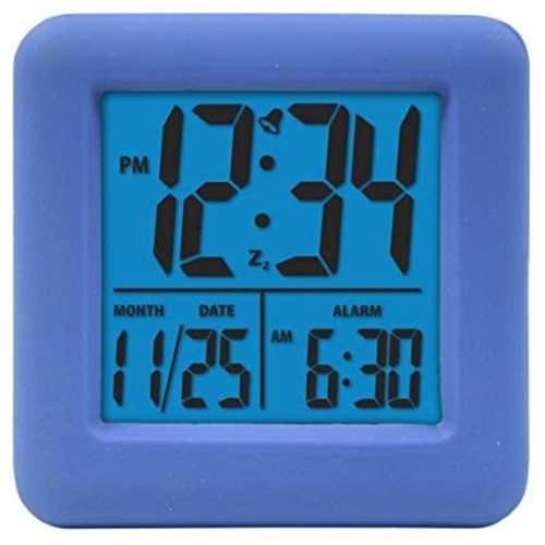 Blue Square Digital Clock