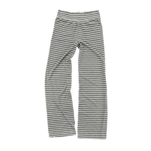 Light Gray Striped Jersey Pants