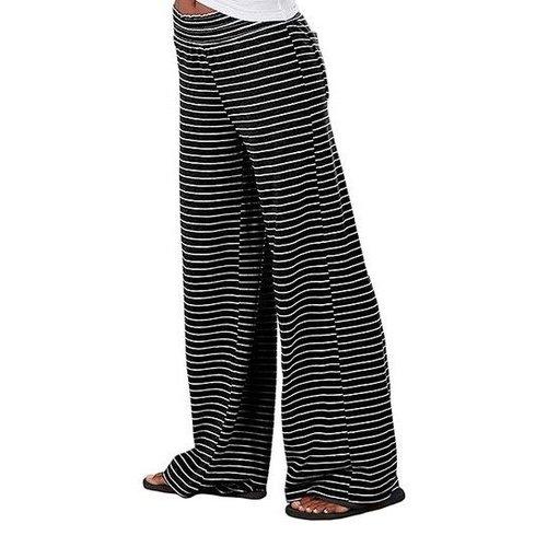 Black Striped Jersey PJ Pants