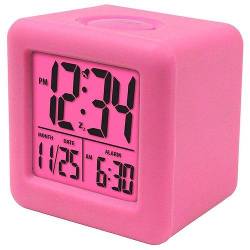 Pink Square Digital Clock