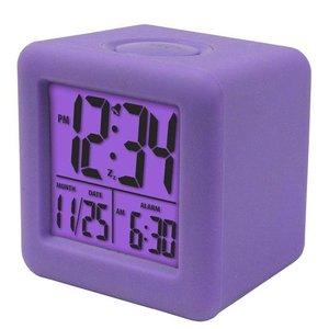 Purple Square Digital Clock