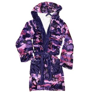 Live, Love, Laugh Purple Camo Robe