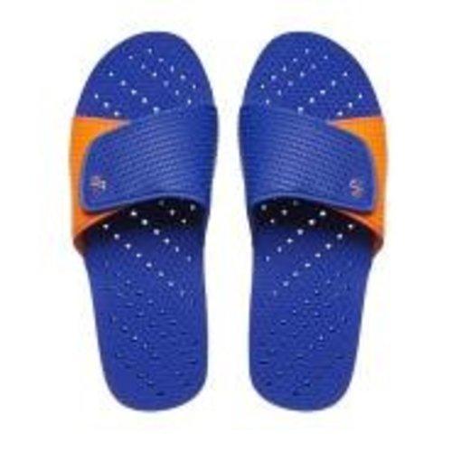 Royal and Orange Showaflop Slides