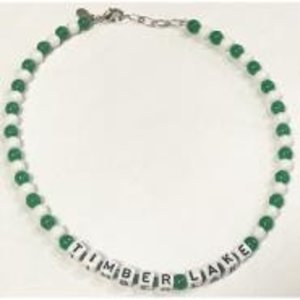 Two-Color Camp Name Beaded Necklace