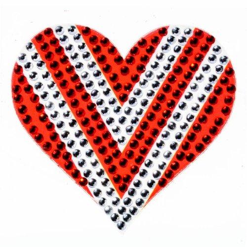Red/White Heart StickerBean