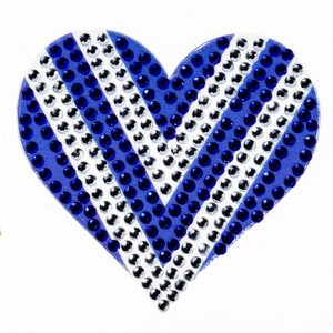 Blue/White Heart StickerBean