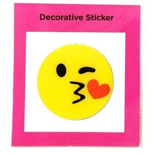 Emoji Kissy Face Sticker