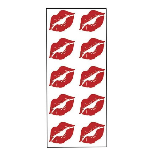 Red Kissy Lips Stickers