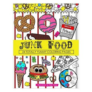 Junk Food Coloring Book
