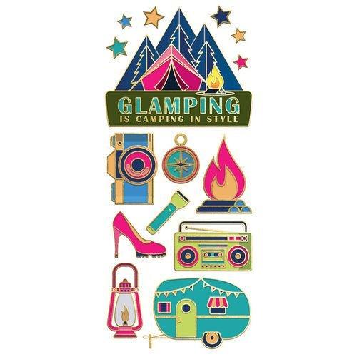 Glamping Enamel Stickers
