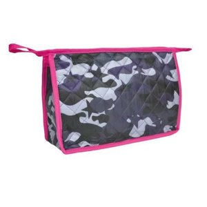 Blue Camo Quilted Cosmetic Bag