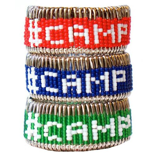 Pin #CAMP Bracelet