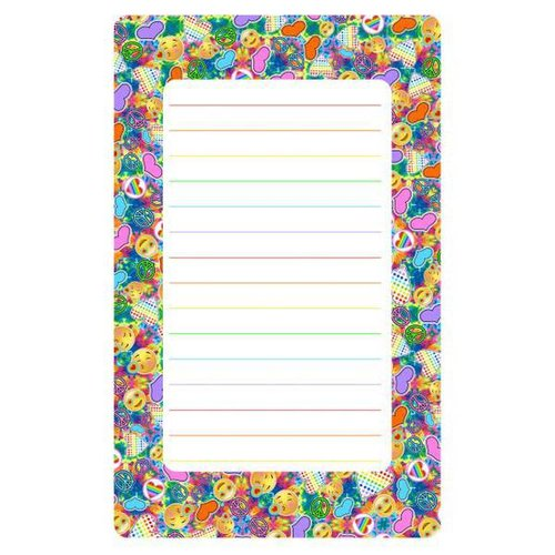Peace, Love, Happiness Tie Dye Lined Notepad