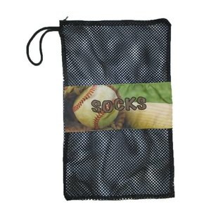 Vintage Baseball Mesh Sock Bag