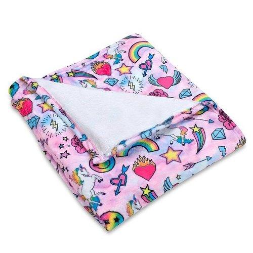 Unicorn Couture Fuzzy Throw Blanket