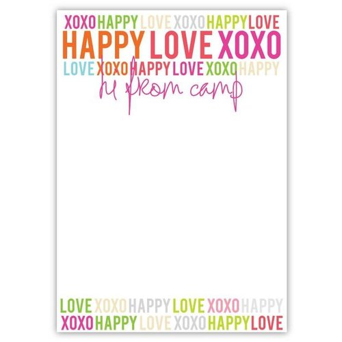 Happy Love XOXO Notepad