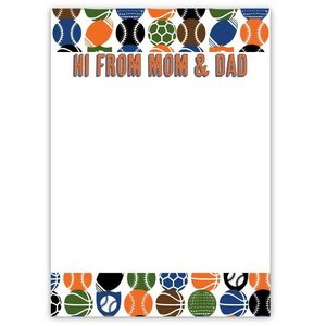 Sports Mom and Dad Notepad