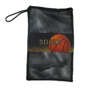 Shooting Hoops Mesh Sock Bag