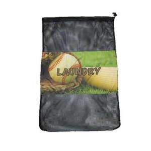 Vintage Baseball Mesh Laundry Bag