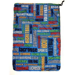 Sports Graffiti Mesh Laundry Bag