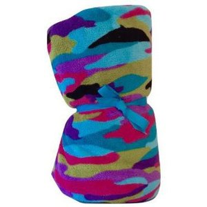 Funky Camo Fuzzy Blanket