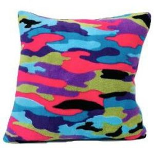 Funky Camo Square Pillow