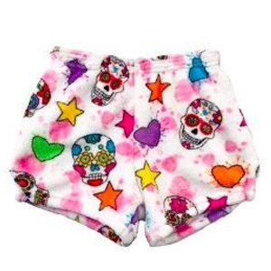 Sugar Skull Fuzzy Shorts