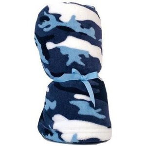 Blue Camo Fuzzy Blanket