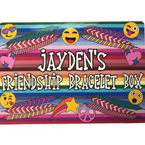 Smiley Stripes Friendship Bracelet Box