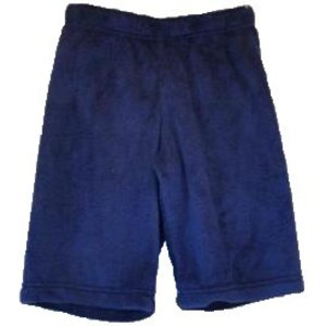 Navy Long Fuzzy Shorts