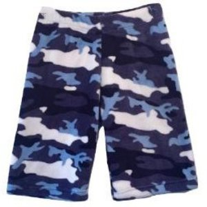 Blue Camo Fuzzy Shorts