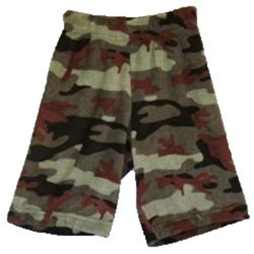 Green Camo Fuzzy Shorts
