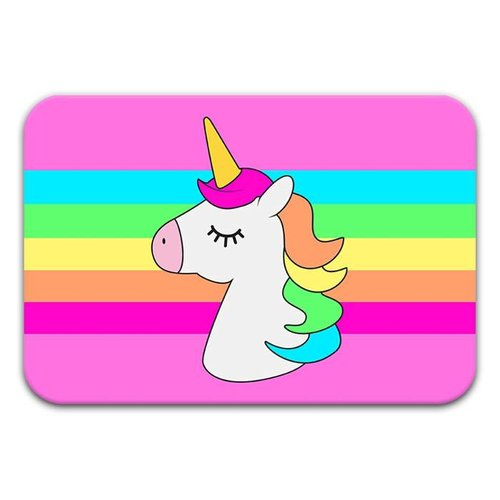 Unicorn Stripe Floor Mat