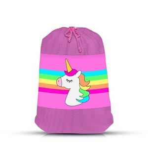 Unicorn Stripe Sock Bag
