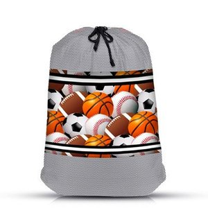 Large Sports Balls Laundry Bag