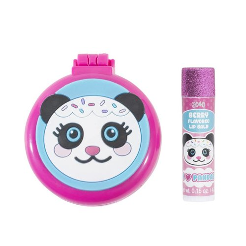 Panda Brush, Mirror and Lip Balm