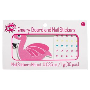 Flamingo Nail File and Stickers