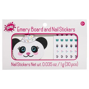 Panda Nail File and Stickers
