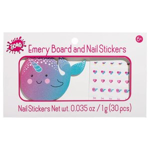 Narwhal Nail File and Stickers