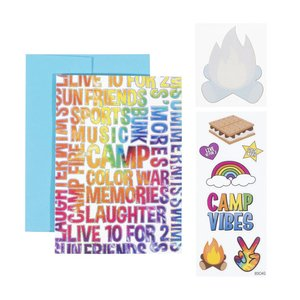 Camp Words Card
