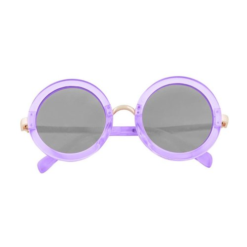 Purple Round Translucent Sunglasses