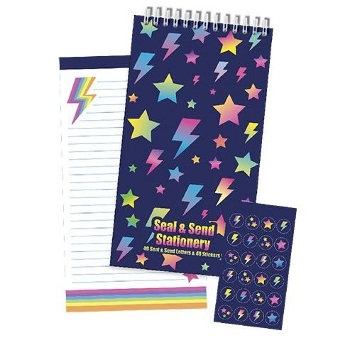 Stars and Lightning Fold & Seal Notecards