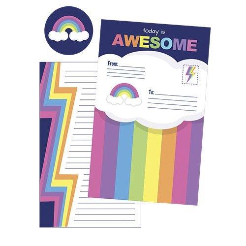 Rainbow Foldover Cards