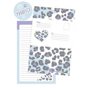 Snow Leopard Foldover Cards