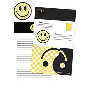Checkered Smiley Foldover Cards
